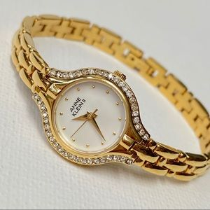 SOLD Anne Klein II Mother of Pearl Dial Watch